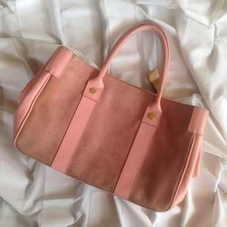 100% Leather Bag (PINK)