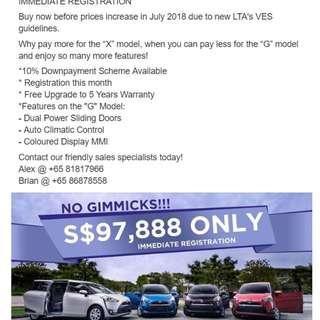 Toyota Sienta Hybrid 1.5 Auto G