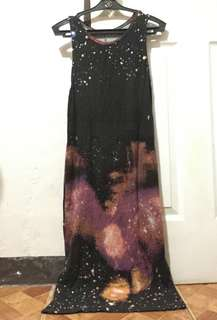 Galaxy style long dress