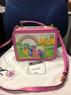 Moschino + My little pony lunchbox x printed leather shoulder bag
