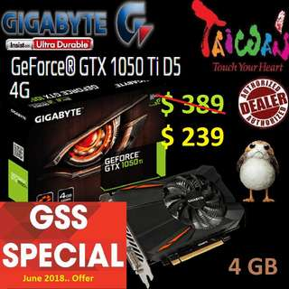 Gigabyte series GTX 1050 Ti D5 4G. ( Till.. 30 June 2018 Offer  Ends...)