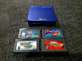 Gameboy advance GBA sp AGS 001 vibrant blue