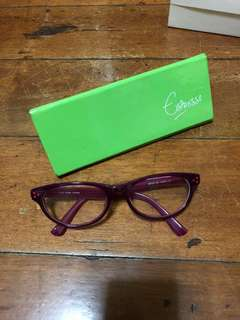 Espresso authentic eyeglasses frame pink
