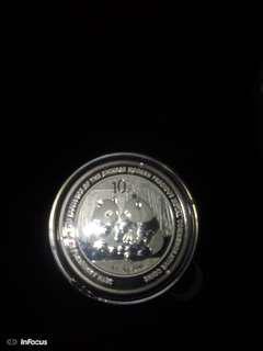 🚚 2009年加字熊貓銀幣