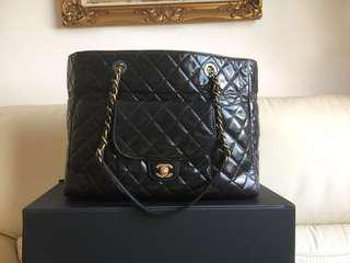 93f9aabd9b69d7 $313 x 12 months $3750 CHANEL DISTRESSED CALFSKIN LARGE SHOPPING TOTE BAG  GHW