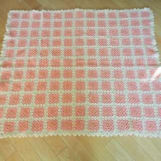 古董雜貨美國手造勾花被裝飾handmade blanket