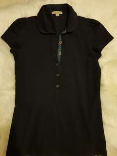 Authentic Burberry brit ladies polo tee size m