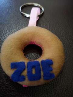 Felt donut key chain
