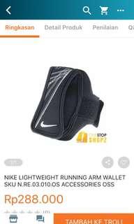 NIKE LIGHTWEIGHT RUNNING ARM WALLET SKU N.RE.03.010.OS ACCESSORIES OSS