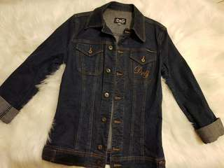 Authentic dolce & gabbana D&G ladies denim jacket size m