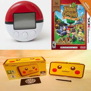Buy 3 item (Not In Rush) pikachu2dsxl console with 1 x pokewalker & Animal Crossing New Left.