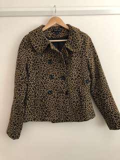 Nude Lucy leopard coat