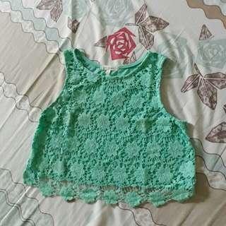 Mint green crop top