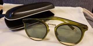 墨綠色撞金色太陽眼鏡 韓式太陽墨鏡 韓潮韓風 Korea style sunglass