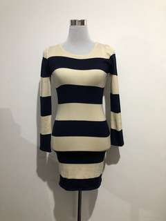 Stripes Bodycon Dress (Knitted£