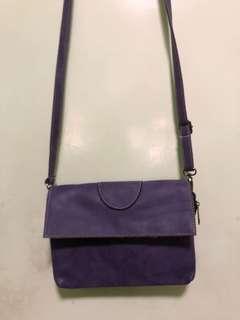 Violet sling bag