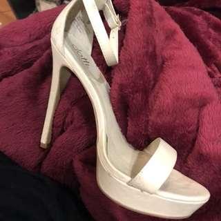 Cream beige high heels stilettos