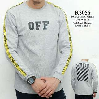 Sweatshirt cowok off white WL R3056