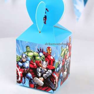 Avengers gift boxes (pack of 6 pieces)