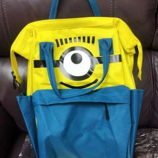 日本 小小兵 小黃人 Minions 背囊 書包 背包 袋 大容量
