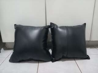 Leather car pillow