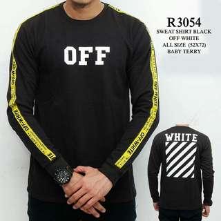 Sweatshirt pria black off white WL R3054