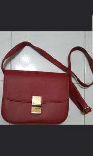 Celine style red handbag