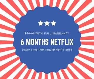 6months Netflix Premium