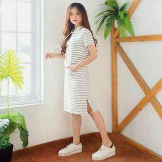 Stripe Dress Hoodie