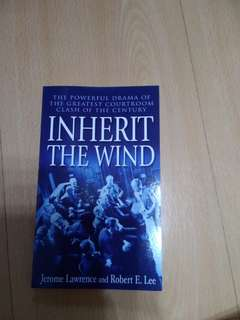 🚚 Inherit the Wind - J Lawrence ans Robert E Lee