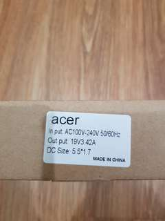 Acer Laptop Charger (Brand New, w/ Warranty)