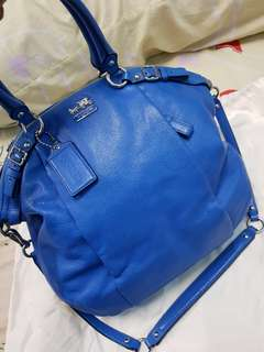 Blue Coach Madison Lindsey Handbag