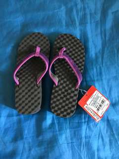 The northface violet/pink wedge slippers, sandals