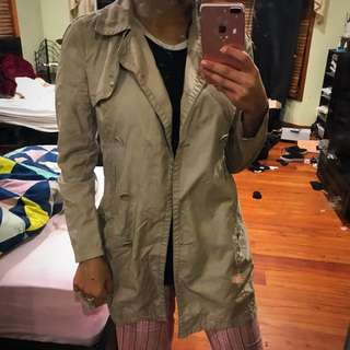 Just jeans trench coat jacket