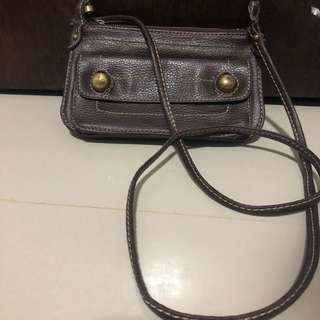 Preloved authentic mango wallet sling