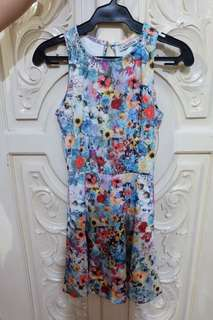 Pull & Bear floral dress open back