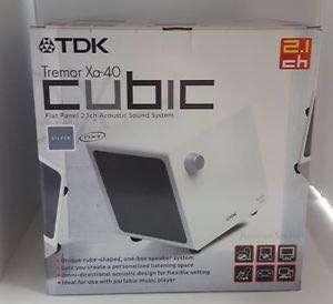 TDK Tremor XA-40 NXT Flat Panel Cubic 2.1 Speaker Silver