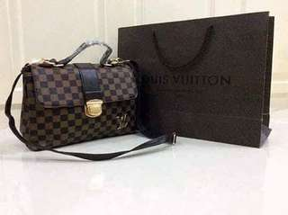 LV sling bag (brown,light brown, grey/white)