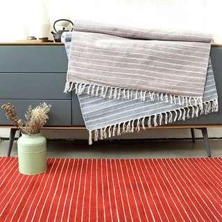 🚚 客廳茶几棉地毯可機洗絨面地墊腳墊臥室床邊墊印度進口手工編織毯
