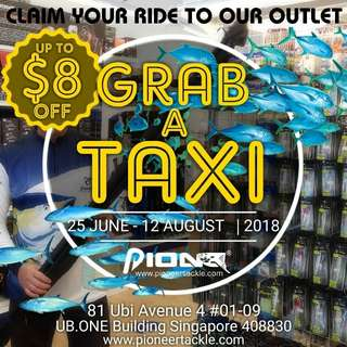 Claim Up to $8 OFF Grab/Taxi Fare