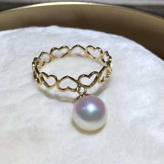 *特價* 愛心日本海水珠戒指