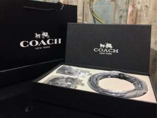 Coach Belt set Premium FREE POSTAGE