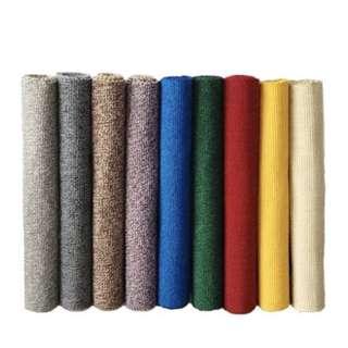 🚚 現代簡約地墊純色可機洗手工編織棉地毯廚房衛浴吸水門墊門廳腳墊