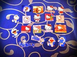 Stiker kartun/ stiker doraemon/ stiker hello kitty/dll