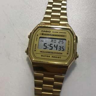 Casio電子錶 A168WG-9E