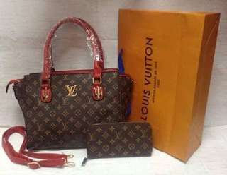 LV shoulder/sling set (red,brown,grey/white