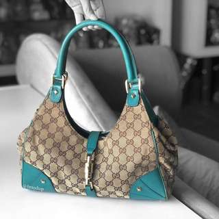 Authentic Gucci GG Canvas Bardot Bag