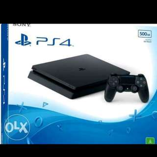 PS4 500gb slim with 1 controller slightly used 13k only
