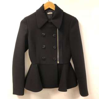 Miu Miu black double buttons zipper jacket size 38