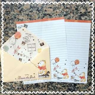 Winnie the Pooh 維尼維手繪風信紙letter set
